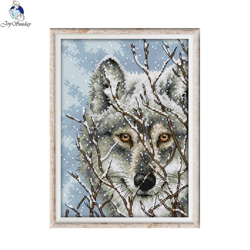 Electronic Components & Supplies Joy Sunday Sled Dog Dmc Counted Chinese Cross Stitch Kits Printed Cross-stitch Set Embroidery Needlework