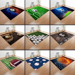 Image 5 - Alfombra con estampado 3D para niños alfombra con estampado 3D para baloncesto, sala de estar, juegos de fútbol, regalo de cumpleaños
