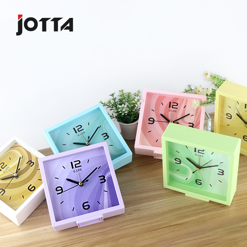 Manufacturer direct sale wholesale contracted home students bedroom office fashion quiet bedside dazzle color small alarm clock