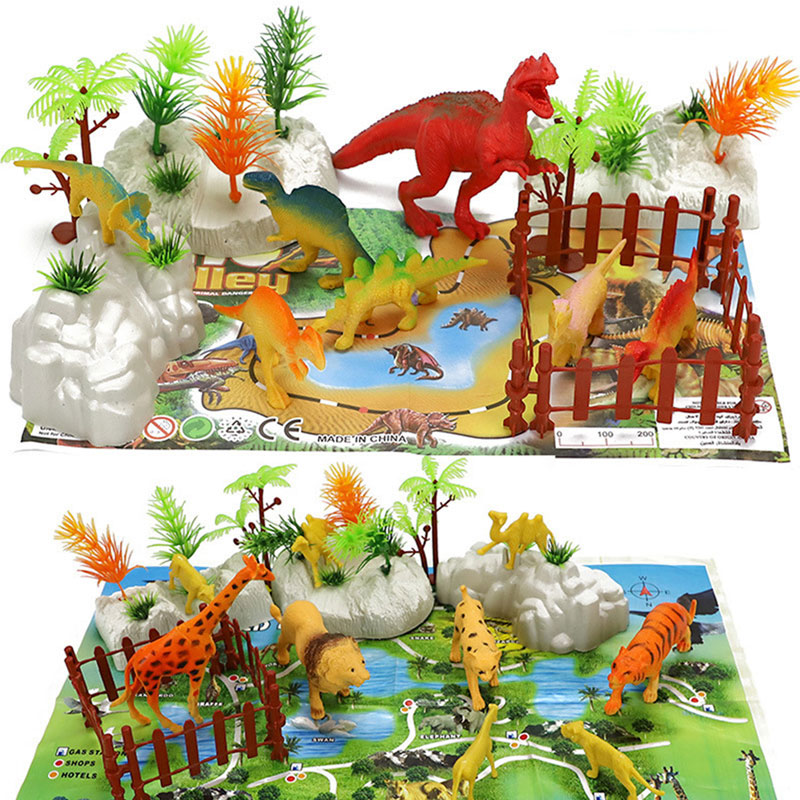 world Pack World War 2 Educational Toys Simulation Dinosaurs Animals Military Pirates Model Packages Toy Backpack image