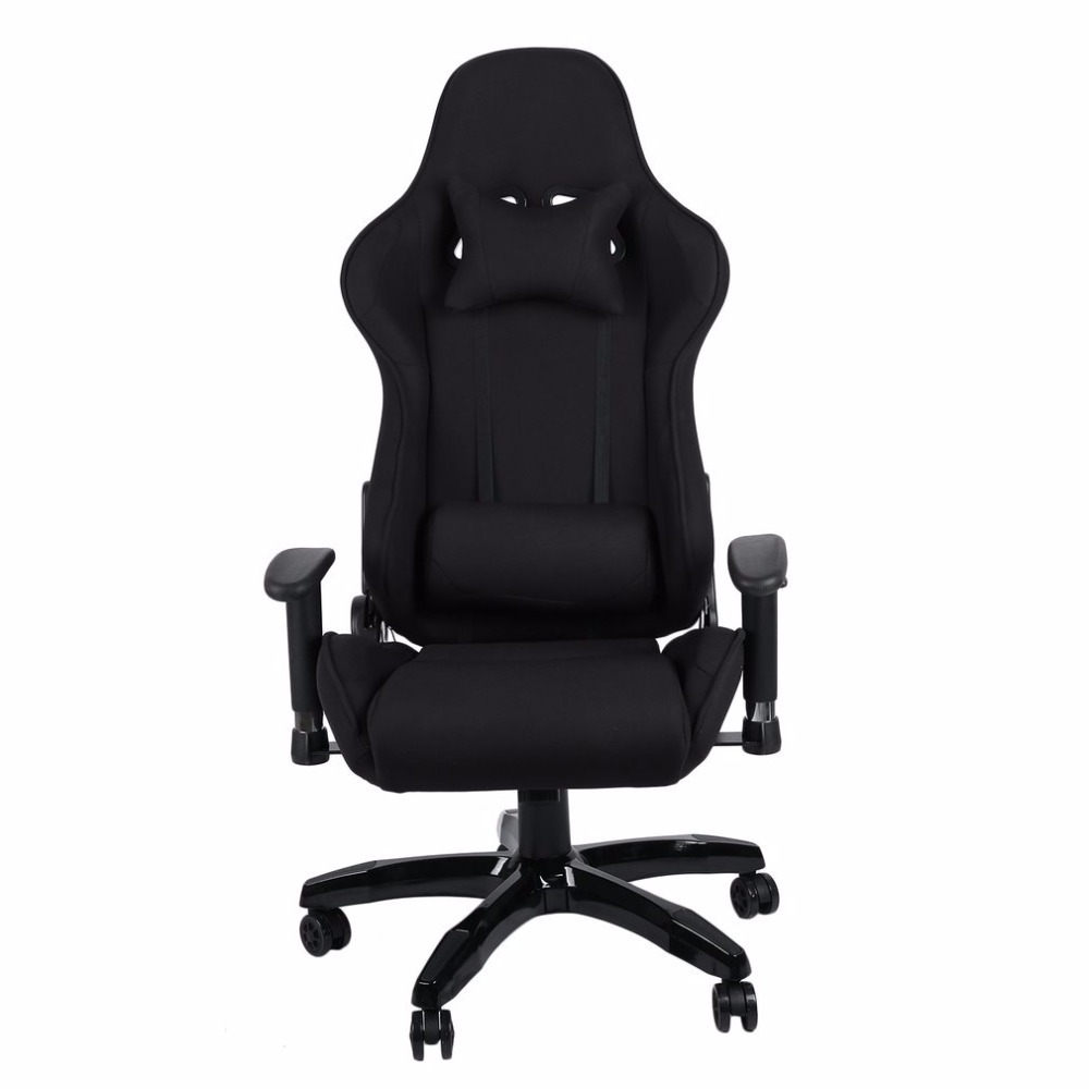 (ship From De)new Ergonomic High Back Racing Chair Adjustable Fabric Executive Computer Chair Revolving Home Office Furniture(China)