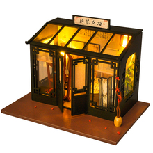 CUTEBEE DIY Doll House Wooden Doll Houses Miniature dollhouse Furniture Kit Toys for children Christmas Gift TD29 недорого
