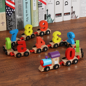 kid's Wooden Digital Train Ass