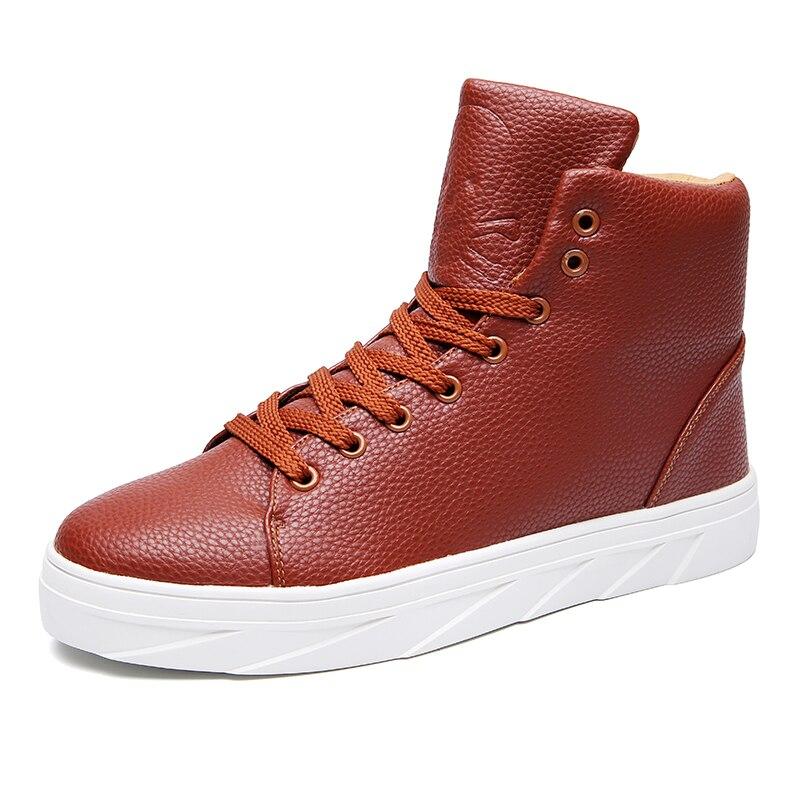 big size 39 46 thick sole mens platform font b boots b font black white brown