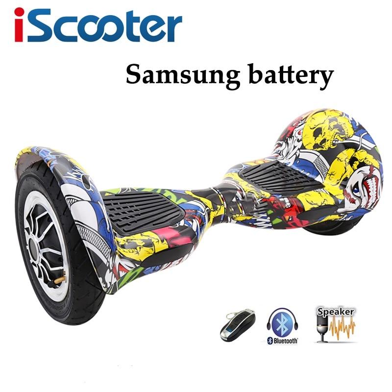 IScooter 10 pouces Hoverbaord Samsung batterie électrique auto équilibrage Scooter pour adulte enfants planche à roulettes 10 roues 700 w Hoverboard
