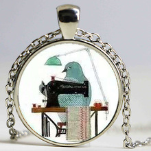 Hot Fashion Hand-painted The Prince and the Bird Necklace Long Strip Chain Pendant Necklaces Women 2016 Jewelry