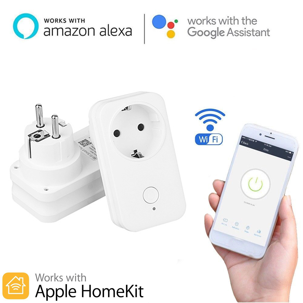 Timethinker Smart WiFi Socket AU US EU UK Power Plug for Apple Homekit Alexa Google Home APP Control From Russian Warehouse 2PC(China)
