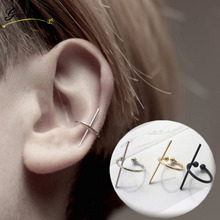 Fashion Simple C Shape Cross Ear Bones Clip Earrings For Men Women Jewelry Geometries Earring Bijoux Punk Rock Style