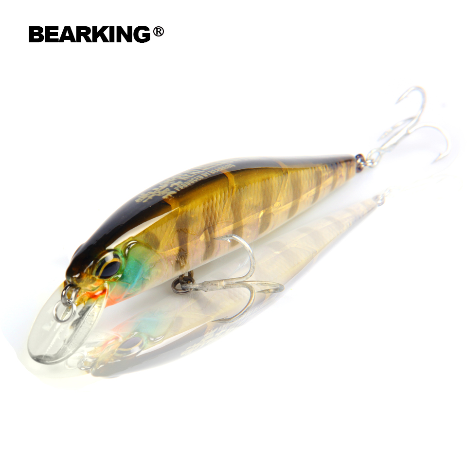 Bearking Retail fishing tackle A+ fishing lures hard bait 5color for choose 100mm 14.5g minnow, quality professional minnow