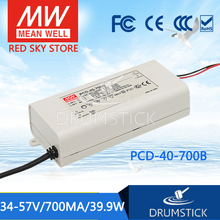 цена на [VII] Hot! MEAN WELL original PCD-40-700B 57V 700mA meanwell PCD-40 57V 39.9W Single Output LED Switching Power Supply