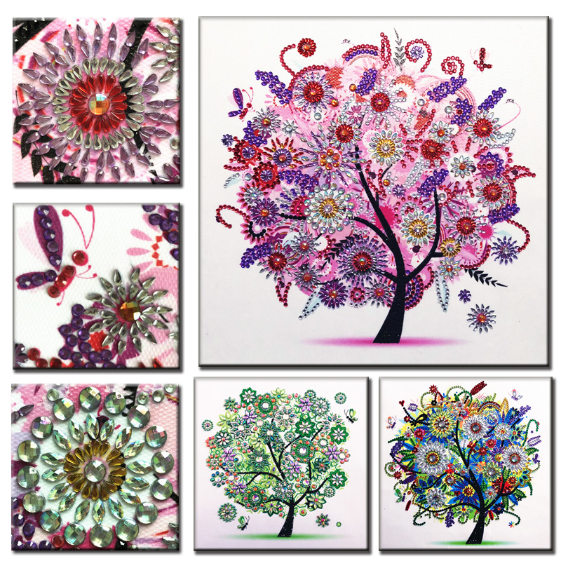RUBOS DIY 5D Diamond Embroidery Colorful Tree Butterfly Bead Diamond Painting Cross Stitch Pearl Crystal Sale Hobby Gift Decor (25)