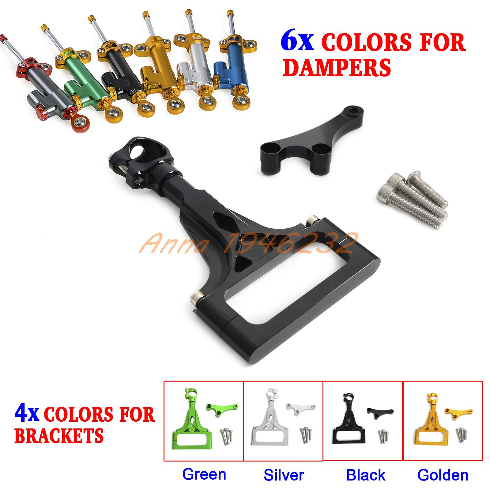 Motorcycle CNC Steering Damper Stabilizer & Bracket for Kawasaki Z750/ABS Z1000/ABS 2003-2009 for kawasaki z750 z800 z 750 z 800 universal motorcycle accessories stabilizer damper steering mounting all year