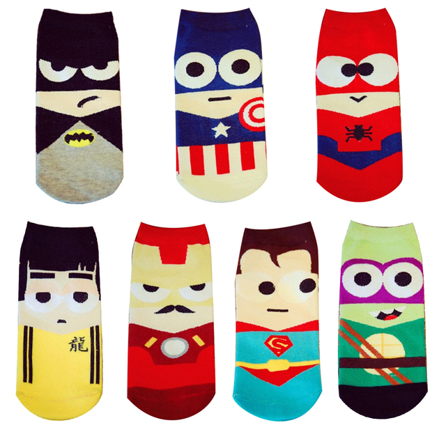 Delicieux 1 Pair 2017 New Summer Cartoon Men Women Short Socks Cute Anime Funny Boat  Socks Fun