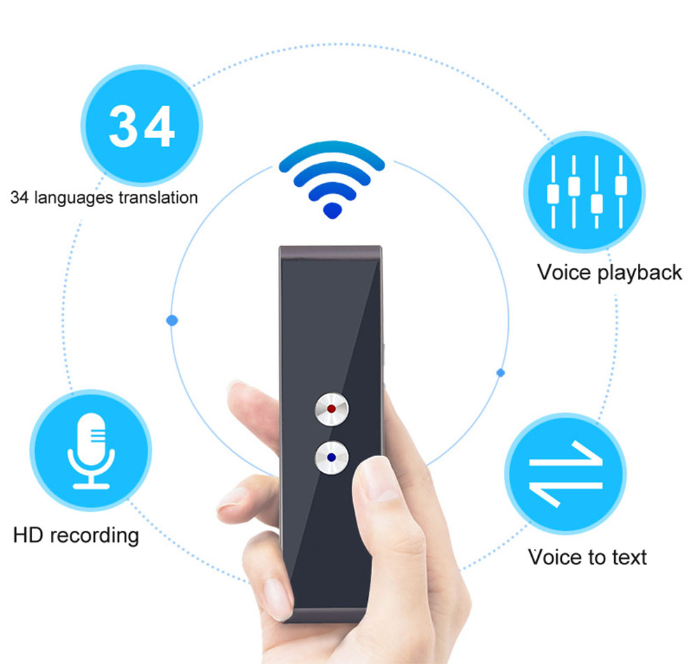 HTB1ZdG9vL9TBuNjy1zbq6xpepXaY T8 Pocket Voice language Translator 30 Languages Two Way Real Time Intercom Portable Translator For Personal Learning Travelling