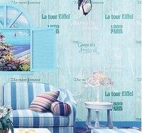 PVC Retro Poststempels Tapete Wohnzimmer Schlafzimmer Badezimmer Home  Wandaufkleber Dekoration, 0,53 Mt *