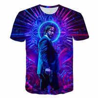 T-Shirt John Docht die Boogie Mann Film 3d print John Docht: kapitel 3-Parabellum t-shirt oansatz kurze Keanu Reeves Mörder