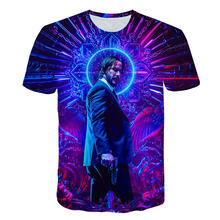 T-Shirt John Wick le Boogie homme film impression 3d John Wick: chapitre 3-Parabellum tshirt o-cou court Keanu Reeves Killer(China)