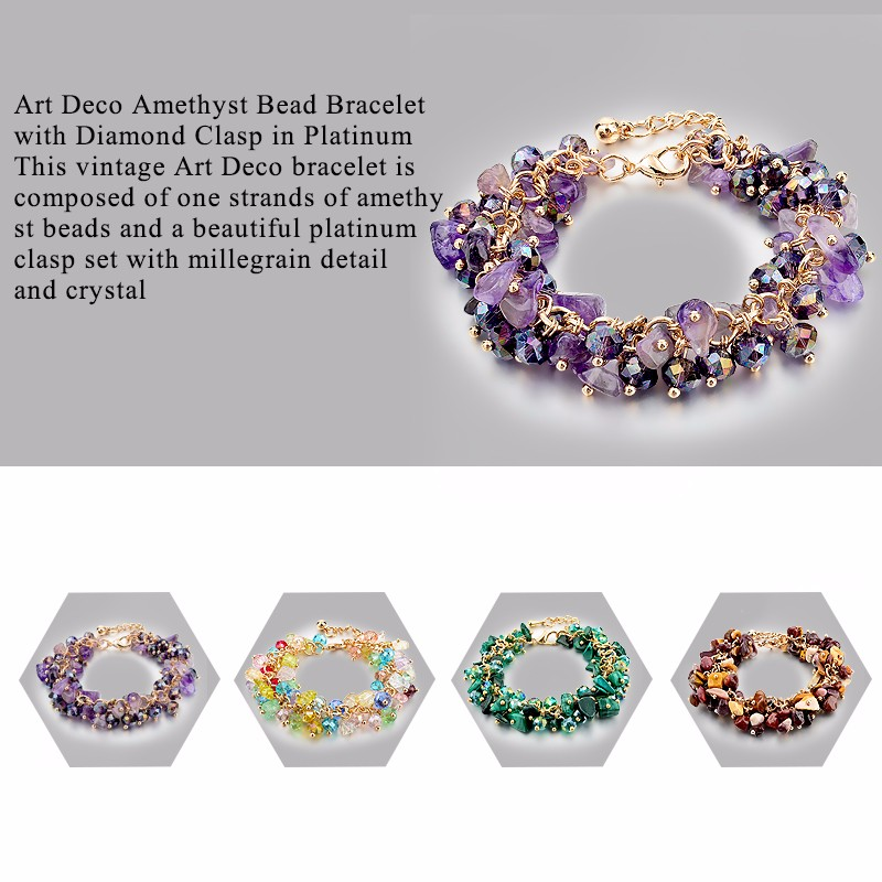 CHICVIE Charm Bracelets & Bangles with Stones Gold color Bracelet ...
