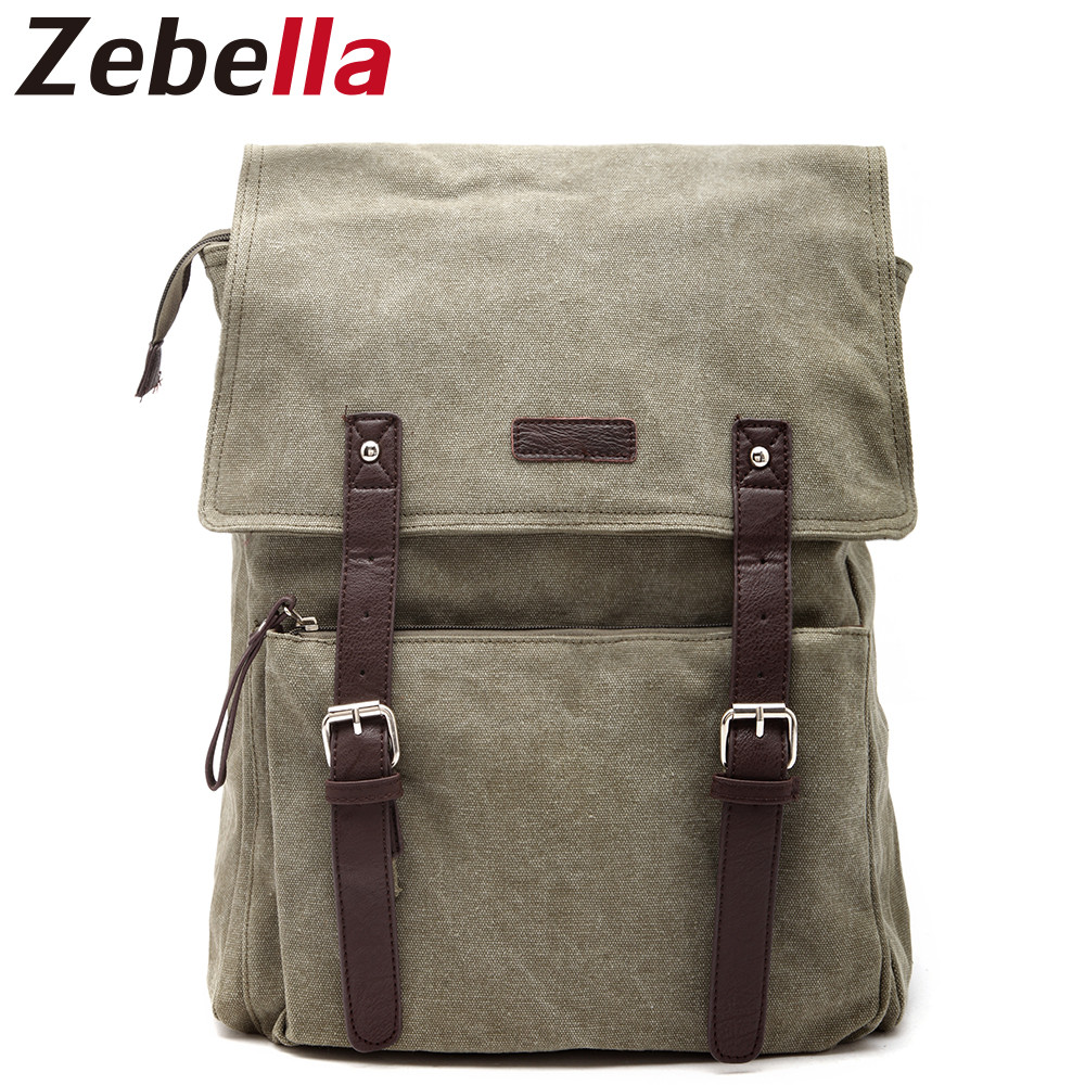 Zebella Large Capacity Men's Casual Canvas Backpack Vintage Leisure Travel School Bag For Teenagers Laptop Backpacks Mochilas new vintage backpack canvas men shoulder bags leisure travel school bag unisex laptop backpacks men backpack mochilas armygreen