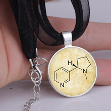 2016 Leather Necklace Handmade Pendant Chemistry Oxytocin Jewelry 2color DIY Gift for women YLQ0111