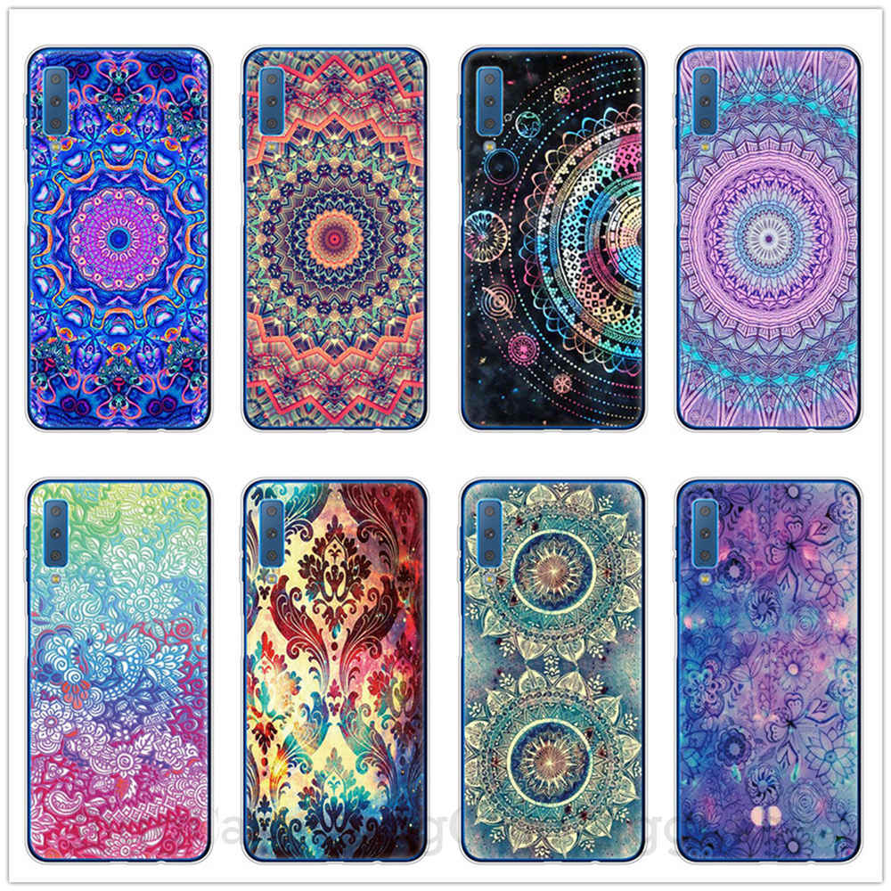 Colorful Mandala TPU Soft Silicone Phone Case For Samsung Galaxy A5 A7 2017 A6 Plus A8 Plus A7 2018 A9 2018 A750 Case Capa