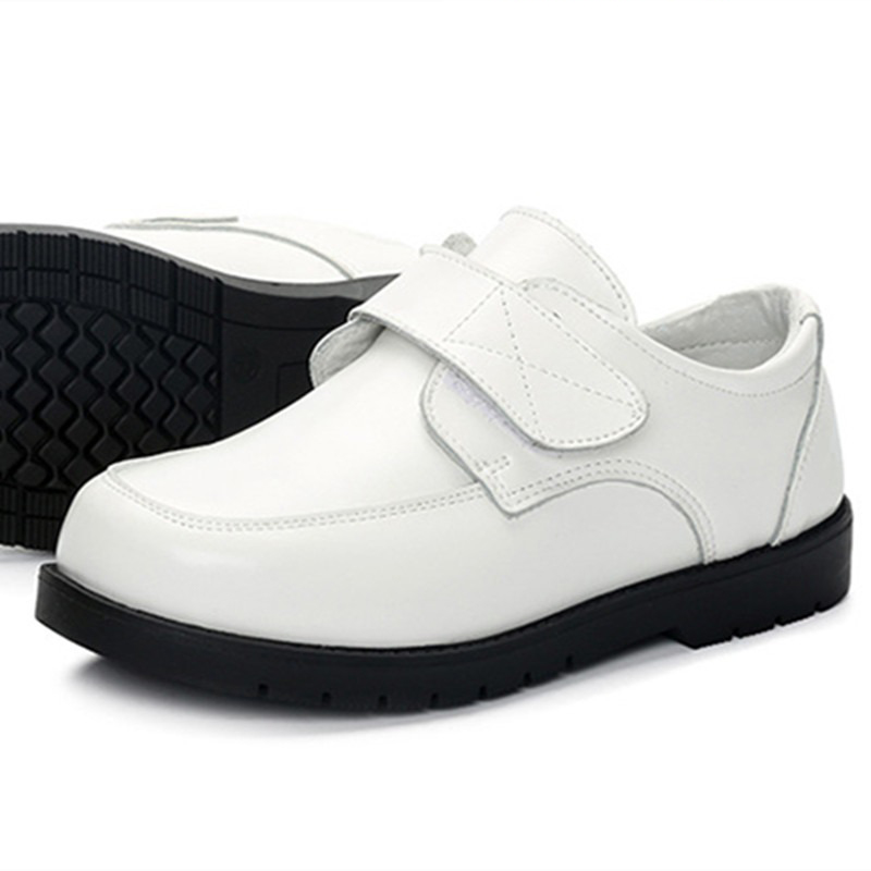 e8edd60ae2b924 BeckyWalk Genuine Leather Children Shoes Boys Leather Shoes Black White  School Shoes Party Kids Boy Performance Shoes CSH674-in Leather Shoes from  Mother ...