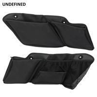 1Set Saddlebags Organizer Saddle Bag For Harley Street Glide Road King 2014 2019 Wall Tool Storage Case Hard Bags Waterproof