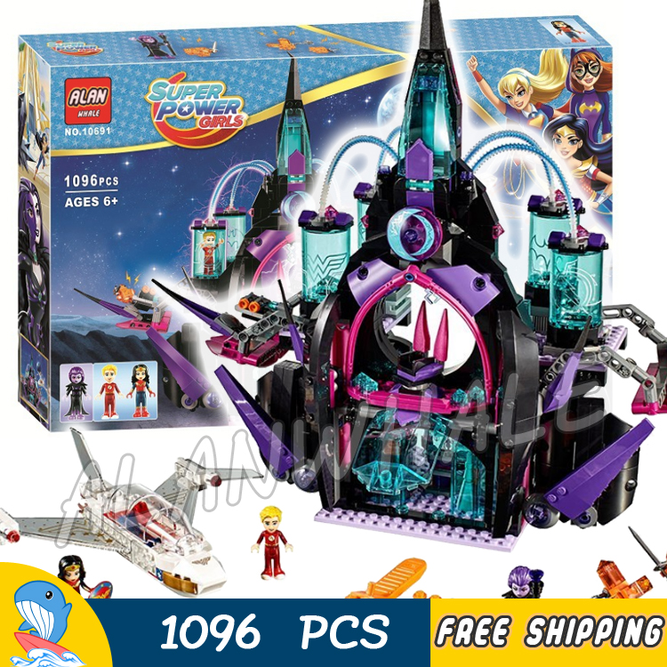1096pcs New Super Heroes Girls Eclipso Dark Palace Castle 10691 Figure Building Blocks Children Toys  Compatible With LegoING