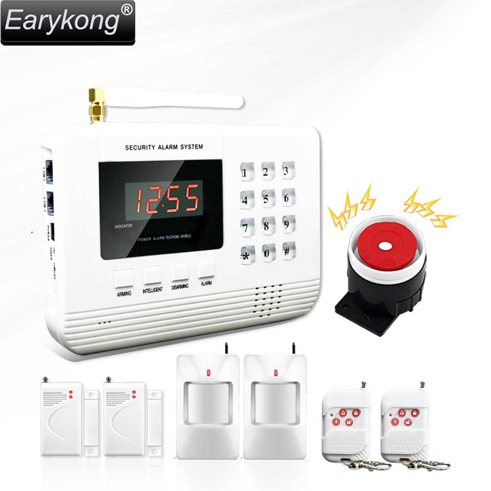 Hot Selling Free Shipping  wholesale Wireless  PSTN GSM Alarm System 433MHz Home Burglar Security Alarm System 2-11 hot selling free shipping wholesale wireless gsm alarm system 433mhz home burglar security alarm system