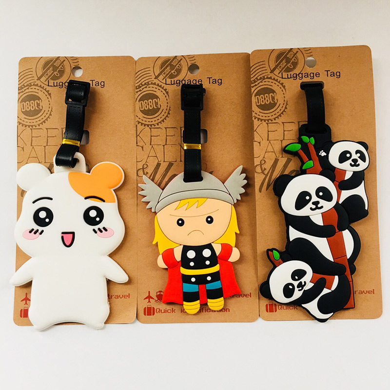 IVYYE Hamster Panda Anime Travel Accessories Luggage Tag Suitcase ID Address Portable Tags Holder Baggage Labels New