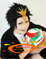 SUNCOS  Haikyuu!! nishinoya yuu Volleyball black  Gold  cosplay  wig  Heat resistance fibre man men hair free shipping