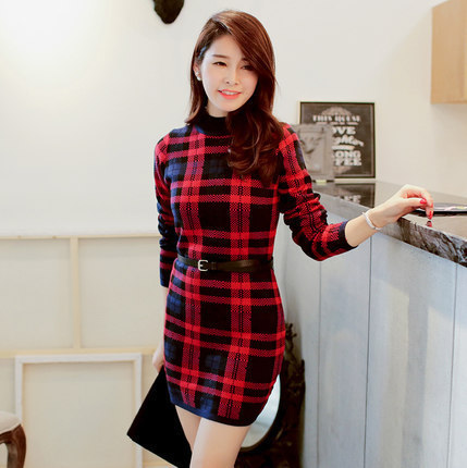 Red and Black Sweater Dresses