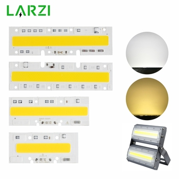 LARZI LED COB Lamp Chip 30W 50W 70W 100W 120W 150W AC 220V 110V IP65 Smart IC Fit For DIY LED Floodlight Cold White Warm White цена 2017