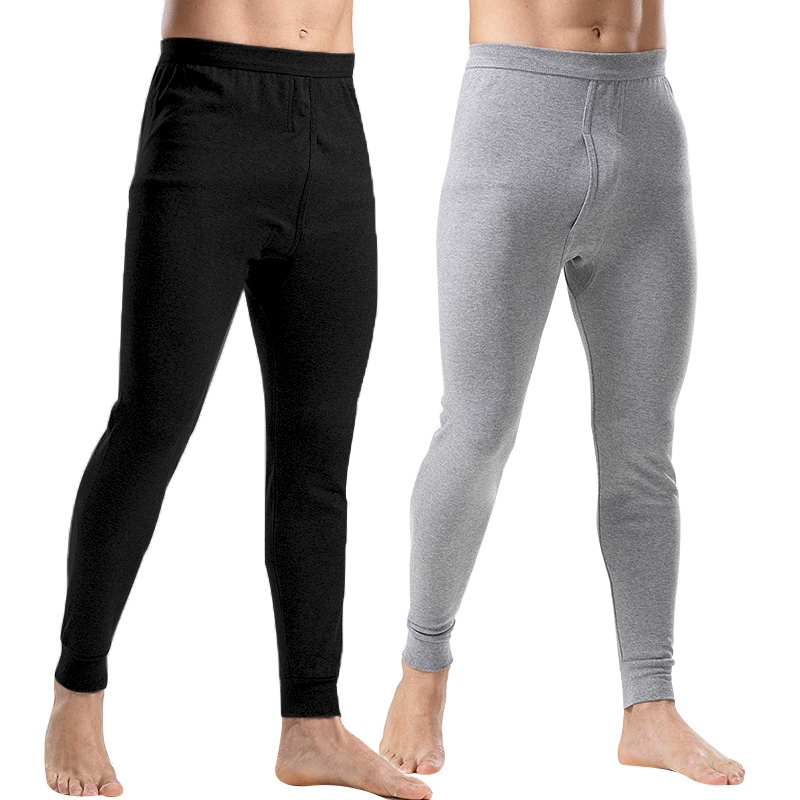 Wholesale Men's Thermo Underwear Fashion Men Thermal Long Johns Loose Mens Thermal Underwear Plus Size Warm Male Leggings Pants(China)