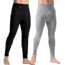 Мужское термобелье, модное мужское термобелье, свободные мужские термобелье, плюс размер, теплые мужские леггинсы, штаны