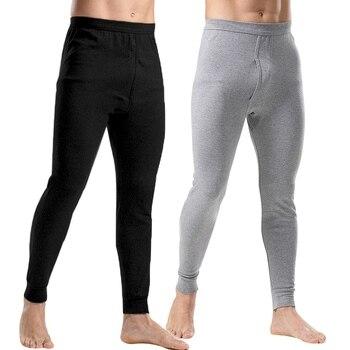 رجالية الحرارية الملابس الداخلية الأزياء الرجال الحرارية طويلة جونز فضفاض رجل ملابس اخلية حرارية زائد حجم الدافئة الذكور طماق السراويل