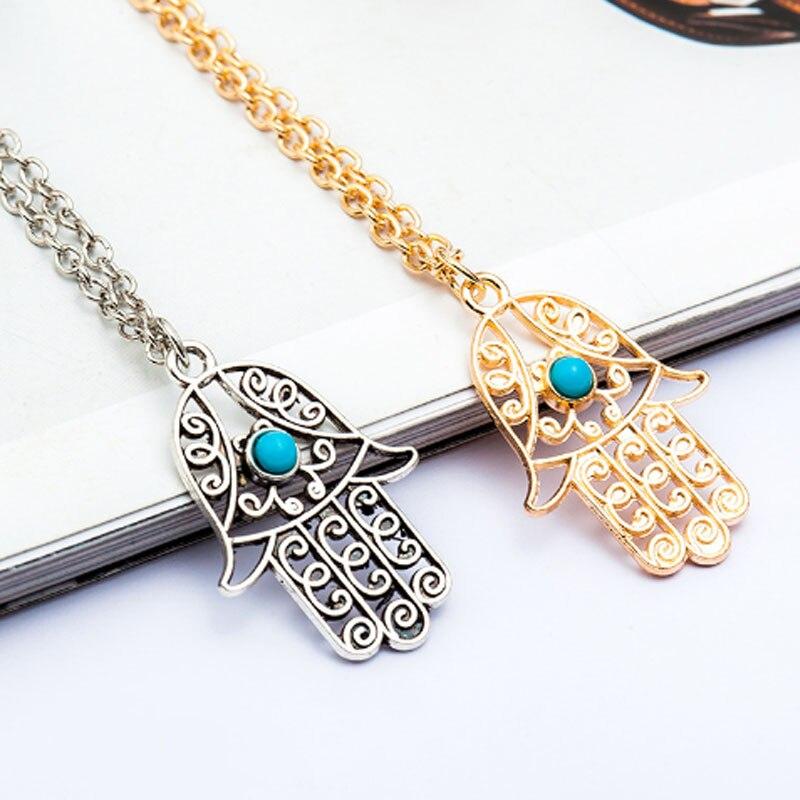 1Pcs Hand Palm Shape Pendants Necklace Fashion Necklaces For Women 2017 Simple Decorative Female Neck Chains Nacklaces Bijoux