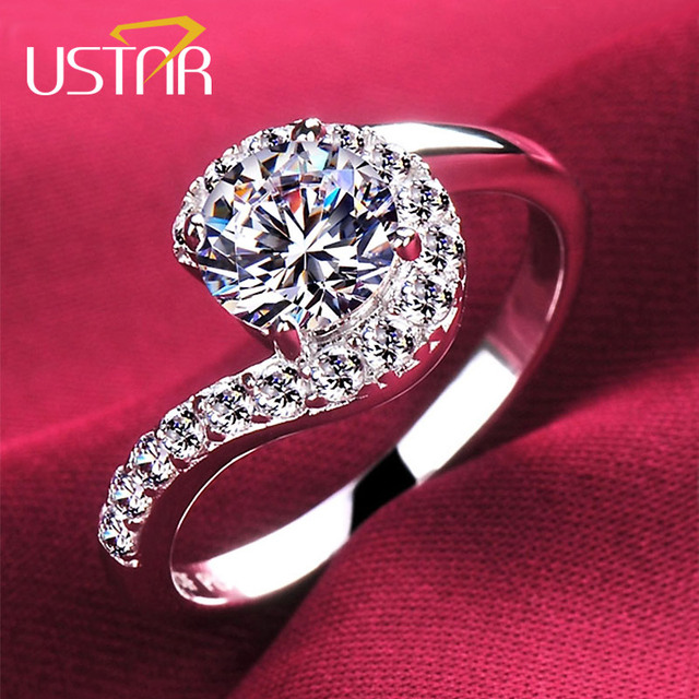 NEW wedding Rings for women Jewelry Silver color Zirconia Crystals rings female Anel anillos bijoux top quality