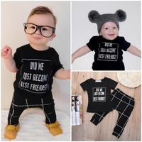 2016 Wholesale New Brand Newborn Toddler Baby Boy Clothes Sets 2pcs Tops T Shirt Pants Casual