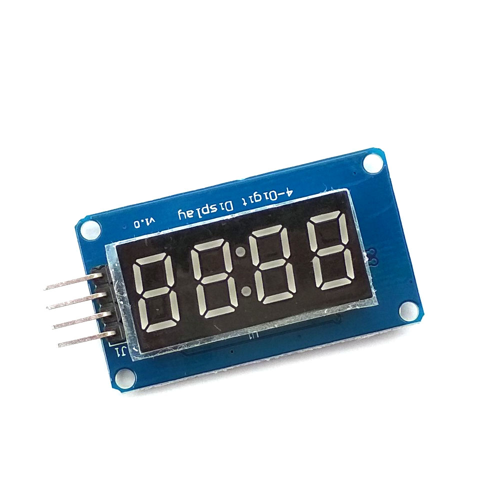 TM1637 <font><b>LED</b></font> Display Module For Arduino <font><b>7</b></font> <font><b>Segment</b></font> <font><b>4</b></font> <font><b>Bits</b></font> 0.36Inch Clock RED Anode Digital Tube Four Serial Driver Board Pack image