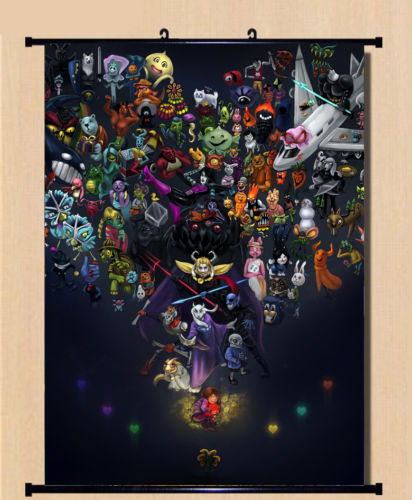 Undertale Sans Game Anime Wall Scroll Home Decor Poster Birthday Gift 80x60cm In Painting