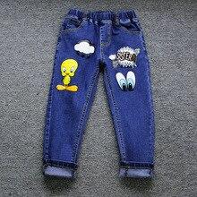 Kids Character Casual Jean Pants Children Elastic Waist Regular Pants For 2-6T 5pcs a lot Free Shipping