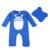 Invierno Bebé Ropa De la Muchacha Del Muchacho Caliente de Espesor de Dibujos Animados Totoro Bebé de Los Mamelucos + Hat Niños Niñas Ropa Conjunto Infantil de Algodón Ropa de invierno