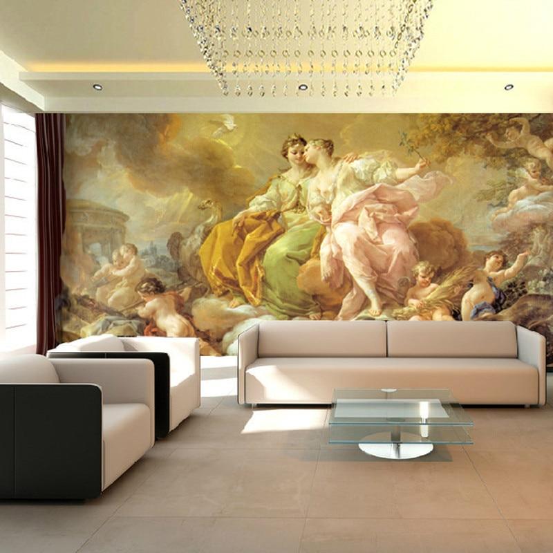 Photo Wallpaper Western European Angel Wallpaper Lobby Mural Images, Photos, Reviews