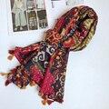 Cachecol De Algodão mulheres BOHO Étnica Grande Xale Hijab Cor Brilhante Feminino Marca New 180x100 [0228]