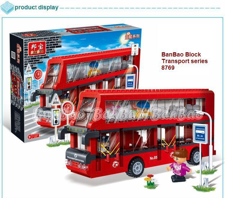 learning education banbao transport series 8769 city double decker
