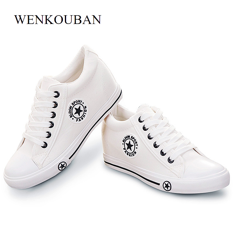 8a31e53c7 Summer Wedge Sneakers Women Casual Canvas Shoes Female White Basket Femme  Star Zapatos Mujer Trainers 5. sku: 32863438047