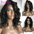 2017 Wavy Short Glueless Full Lace Wigs 150 Density Full Lace Human Hair Short Wigs for Black Women Free Part with Baby Hair