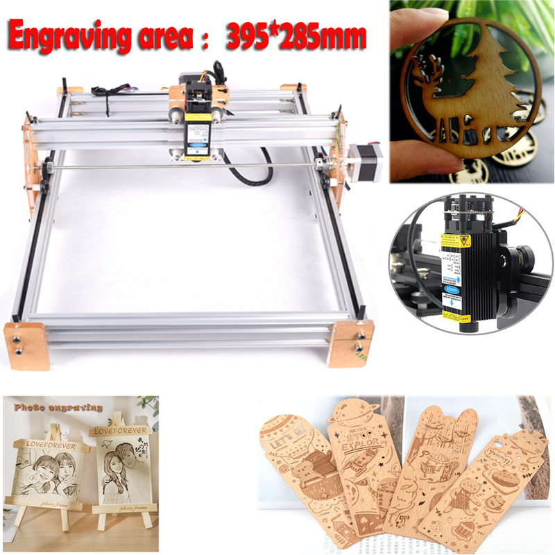 Mini Laser Cutting Machine 2.5mw/5500mw/3500mw/5500mw/7w/15w Laser Head DIY Laser Machine Laser Engraver 15w Wood Cutting PWM