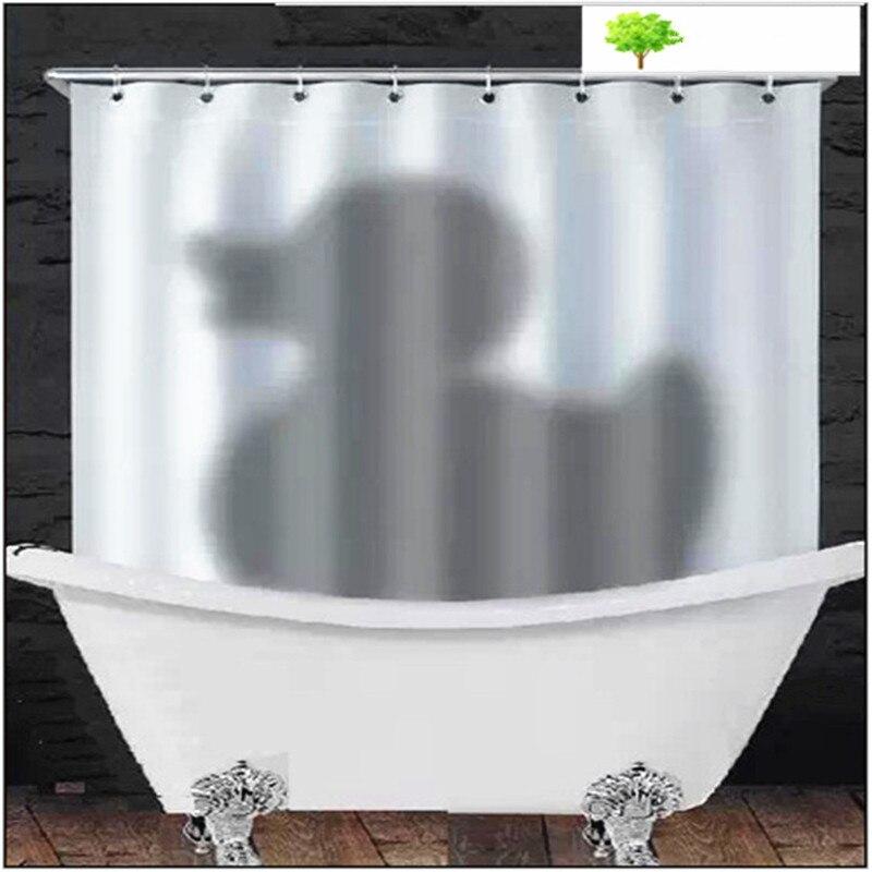 Europe et états-unis créatif rideau de douche spot sang handprint Halloween salle de bain tissu polyester canard canard rideau - 2
